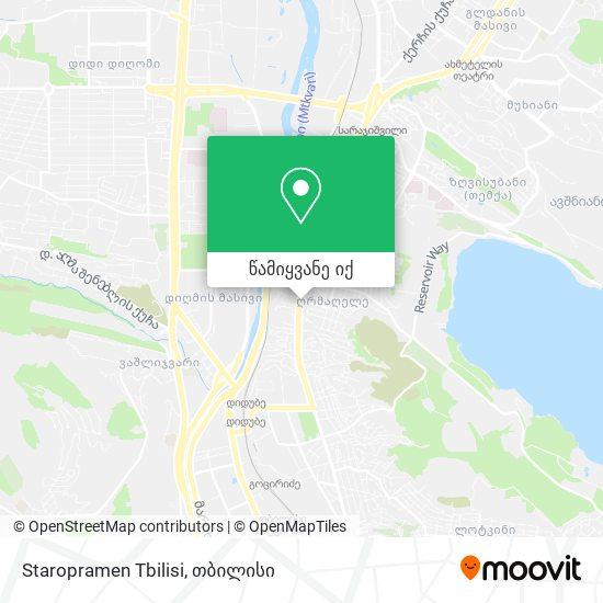 Staropramen Tbilisi რუკა