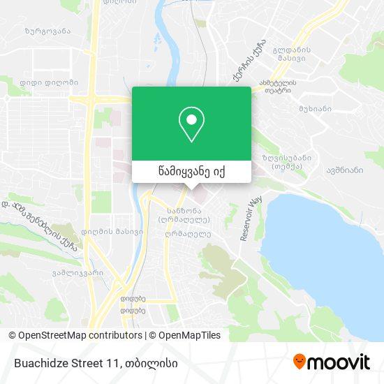 Buachidze Street 11 რუკა