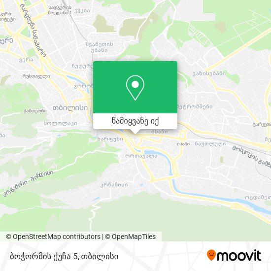 ბოჭორმის ქუჩა 5 რუკა