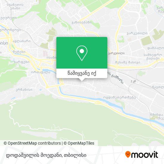 დოდაშვილის მოედანი რუკა