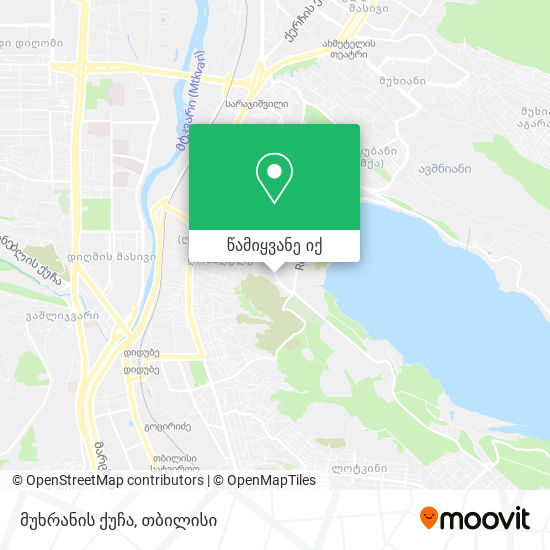 მუხრანის ქუჩა რუკა