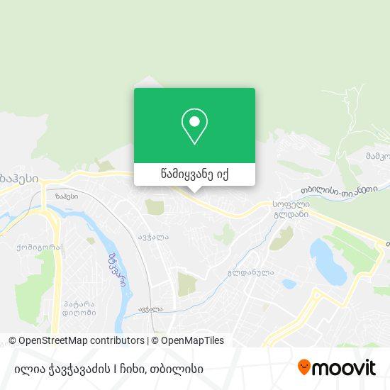 ილია ჭავჭავაძის I ჩიხი რუკა