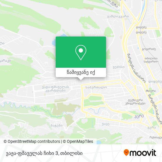 ვაჟა-ფშაველას ჩიხი 3 რუკა