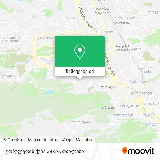 ქობულეთის ქუჩა 34-36 რუკა