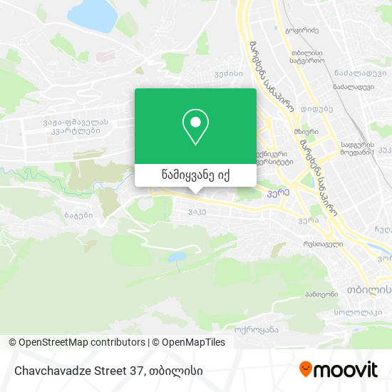 Chavchavadze Street 37 რუკა