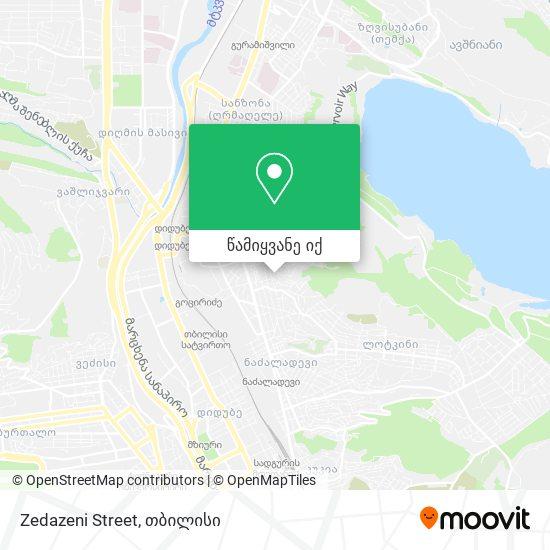 Zedazeni Street რუკა