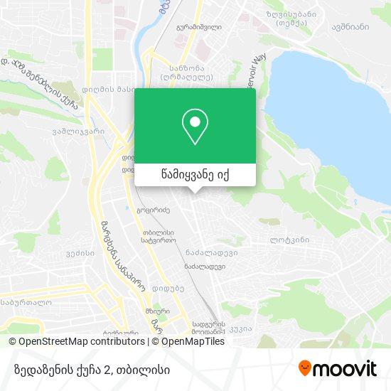 ზედაზენის ქუჩა 2 რუკა