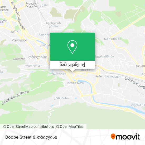 Bodbe Street 6 რუკა