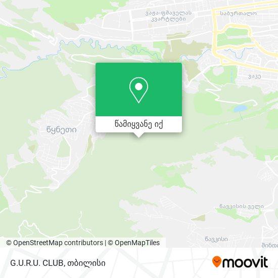 G.U.R.U. CLUB რუკა