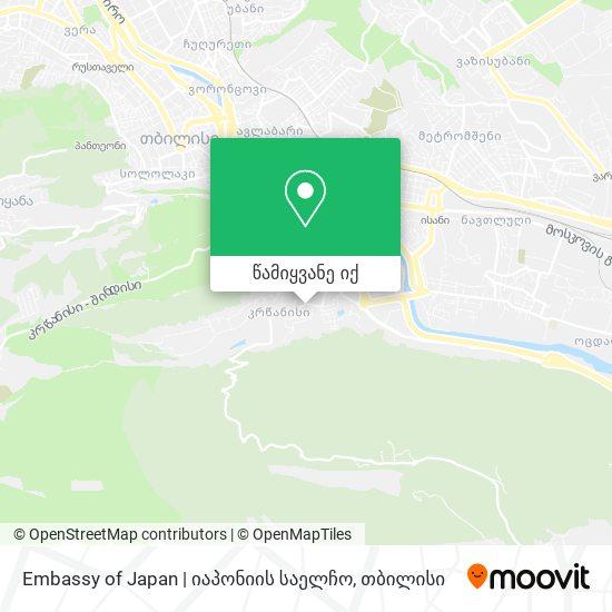 Embassy of Japan | იაპონიის საელჩო რუკა