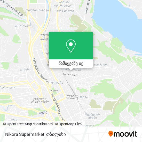Nikora Supermarket რუკა