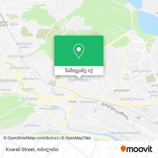 Kvareli Street რუკა