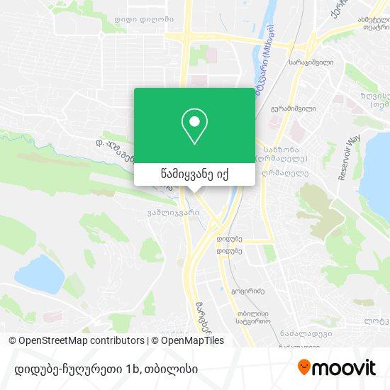 დიდუბე-ჩუღურეთი 1b რუკა