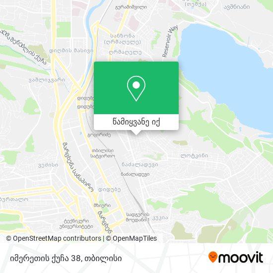 იმერეთის ქუჩა 38 რუკა