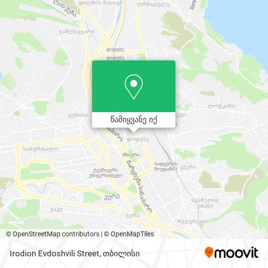 Irodion Evdoshvili Street რუკა