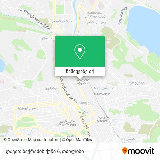 დავით ბაქრაძის ქუჩა 6 რუკა