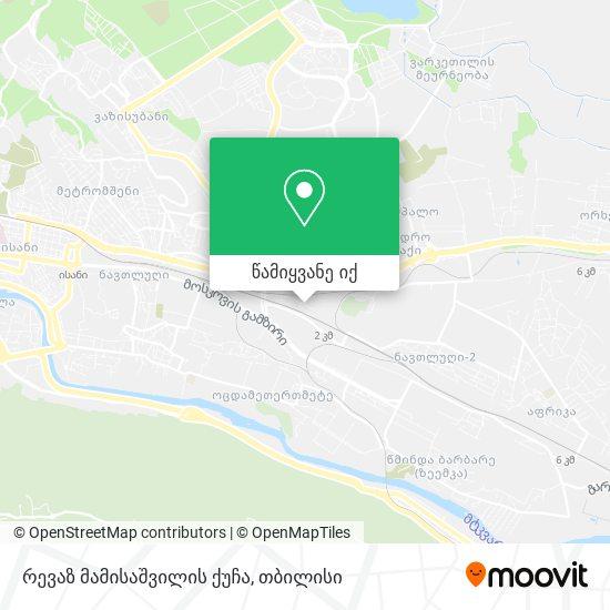 რევაზ მამისაშვილის ქუჩა რუკა