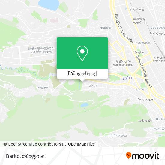 Barito რუკა