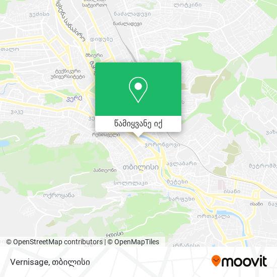 Vernisage რუკა