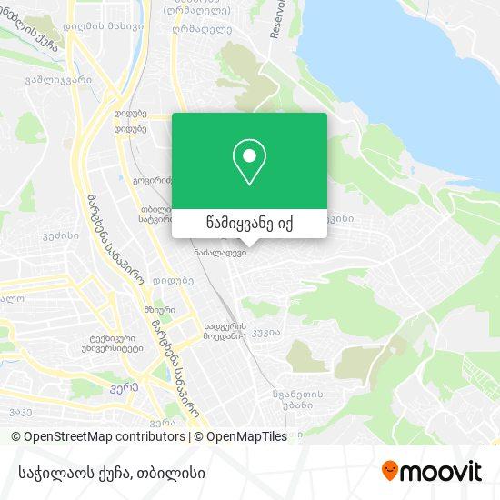 საჭილაოს ქუჩა რუკა