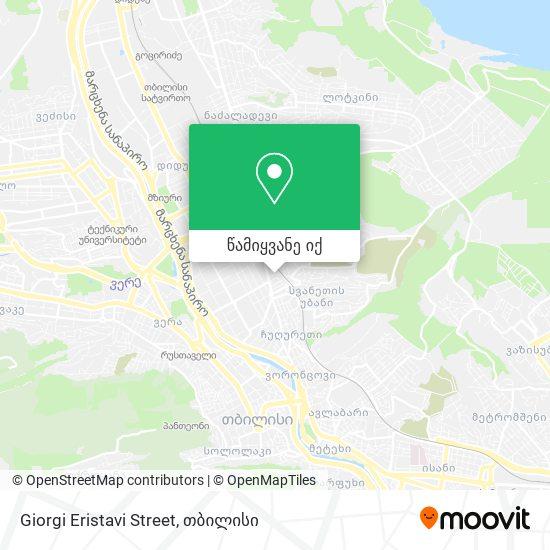 Giorgi Eristavi Street რუკა