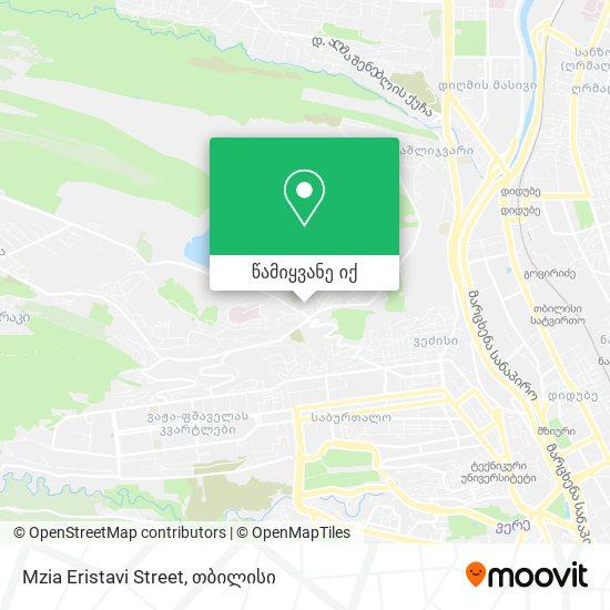 Mzia Eristavi Street რუკა