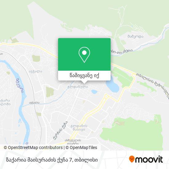 ზაქარია მაისურაძის ქუჩა 7 რუკა