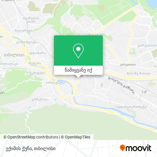 ექიმის ქუჩა რუკა
