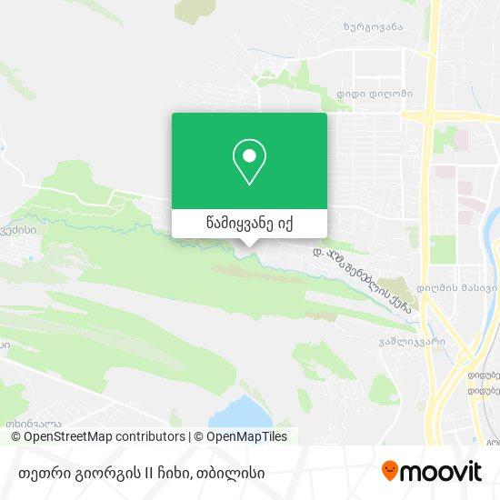 თეთრი გიორგის II ჩიხი რუკა