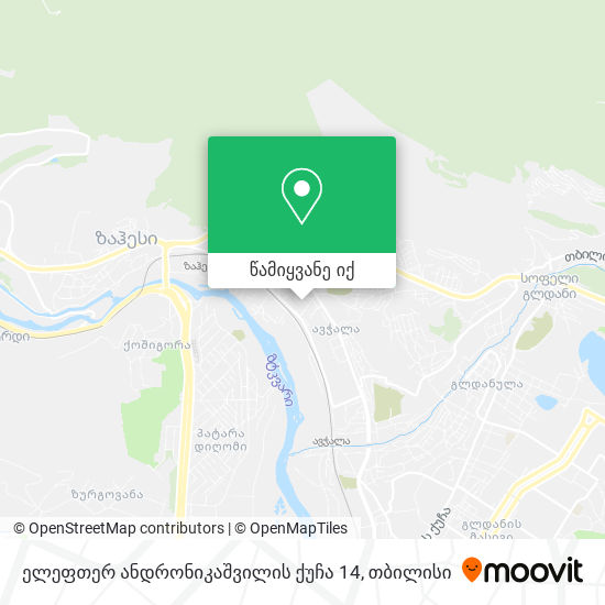 ელეფთერ ანდრონიკაშვილის ქუჩა 14 რუკა
