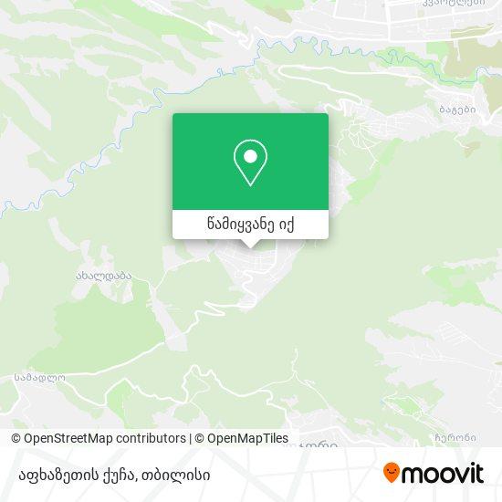 აფხაზეთის ქუჩა რუკა