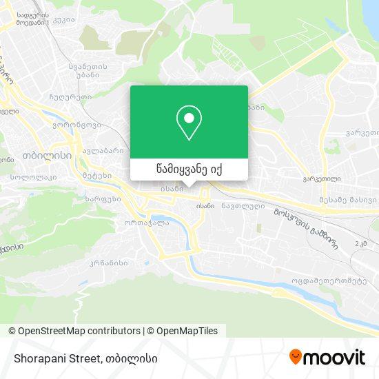 Shorapani Street რუკა