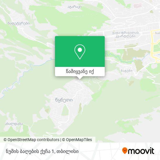 ნუშის ბაღების ქუჩა 1 რუკა