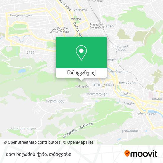 შიო ჩიტაძის ქუჩა რუკა