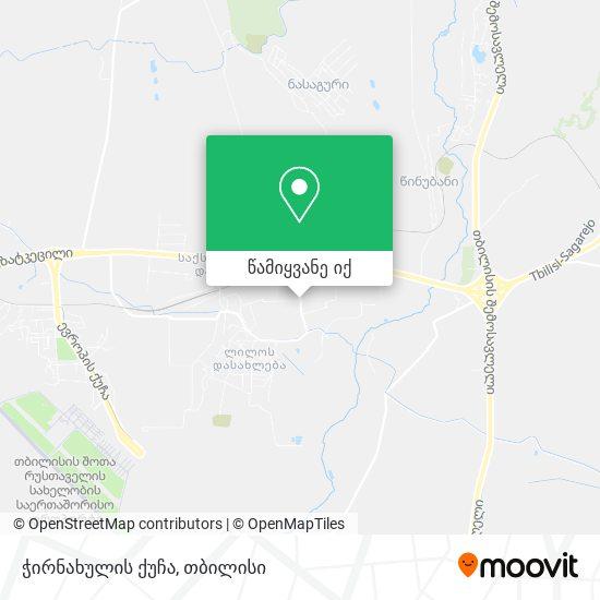 ჭირნახულის ქუჩა რუკა