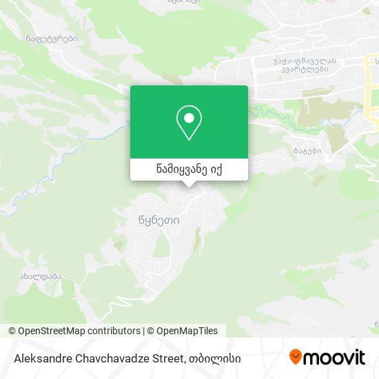 Aleksandre Chavchavadze Street რუკა