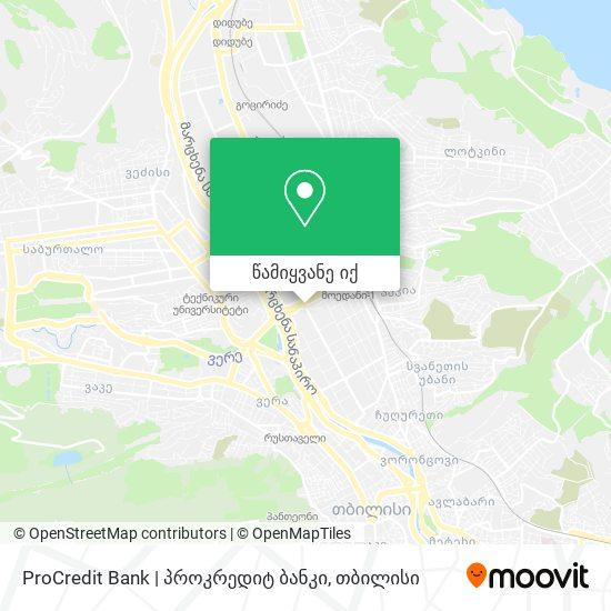 ProCredit Bank   პროკრედიტ ბანკი რუკა