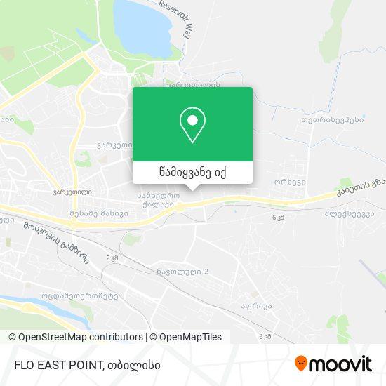 FLO EAST POINT რუკა