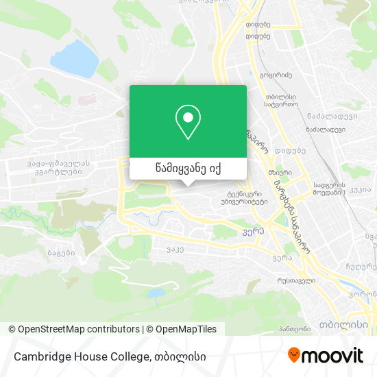 Cambridge House College რუკა