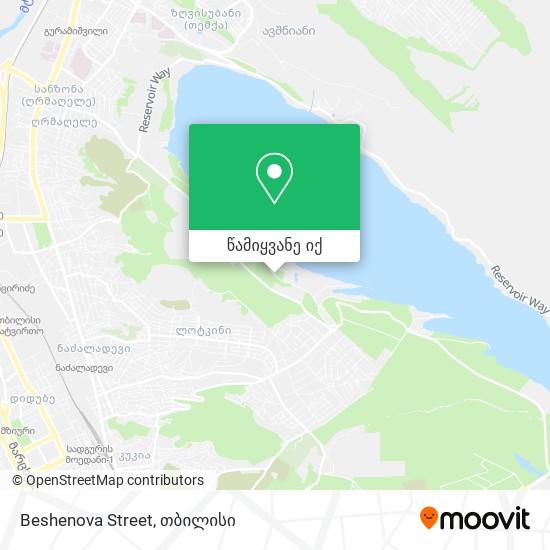 Beshenova Street რუკა