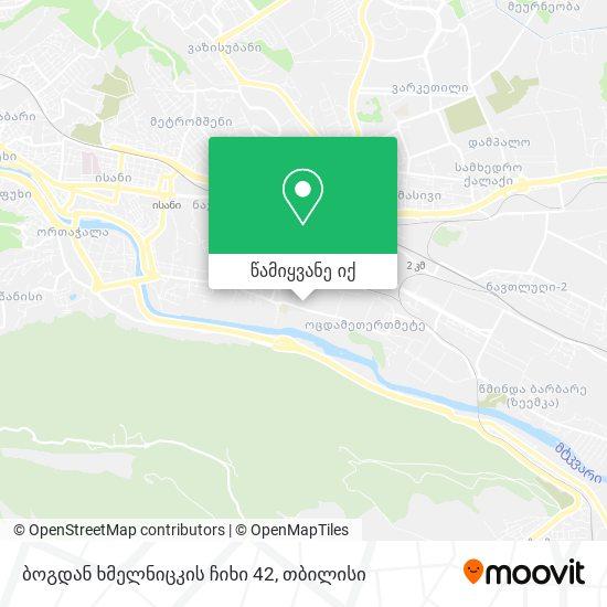 ბოგდან ხმელნიცკის ჩიხი 42 რუკა