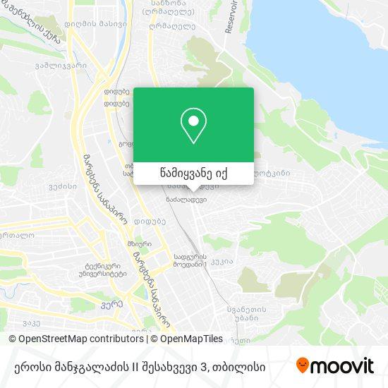 ეროსი მანჯგალაძის II შესახვევი 3 რუკა