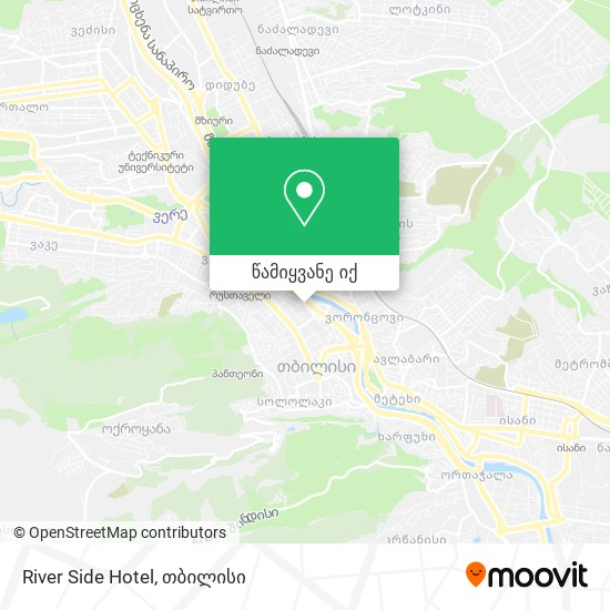 River Side Hotel რუკა