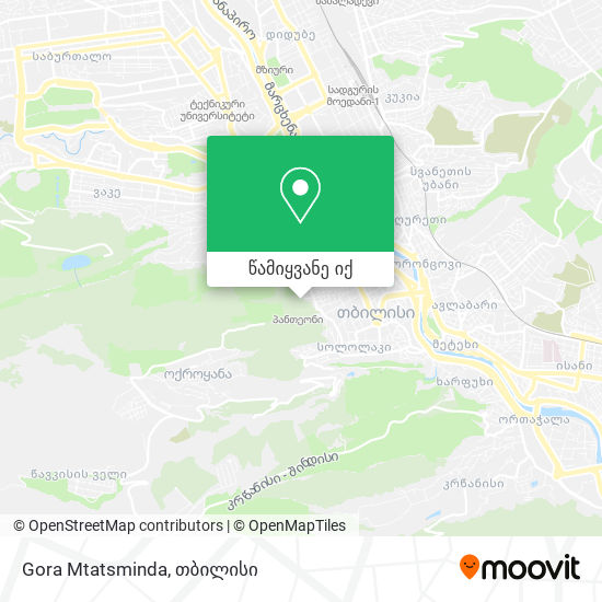 Gora Mtatsminda რუკა
