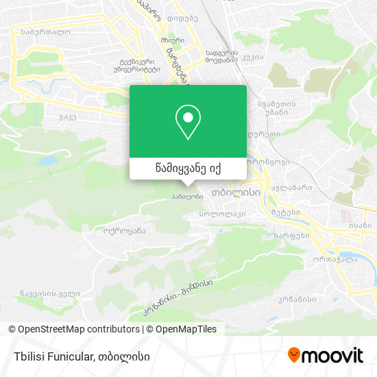 Tbilisi Funicular რუკა