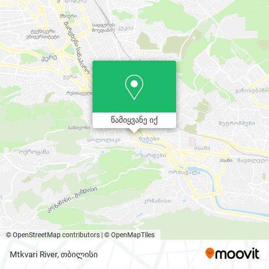 Mtkvari River რუკა