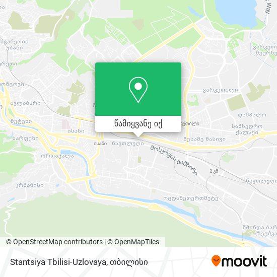 Stantsiya Tbilisi-Uzlovaya რუკა