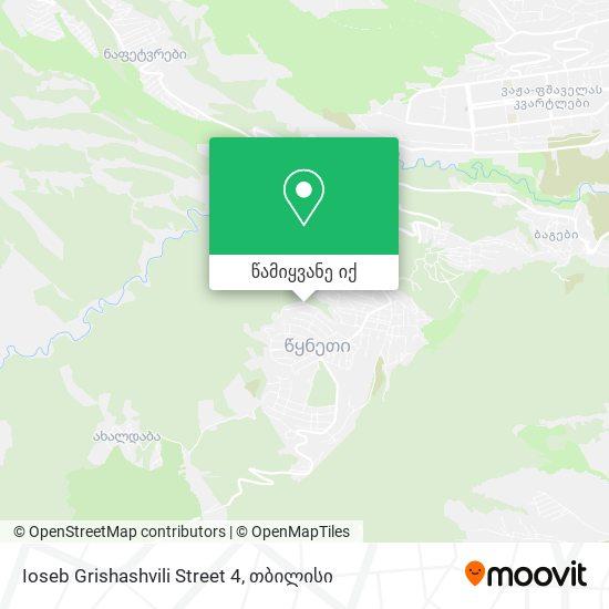 Ioseb Grishashvili Street 4 რუკა