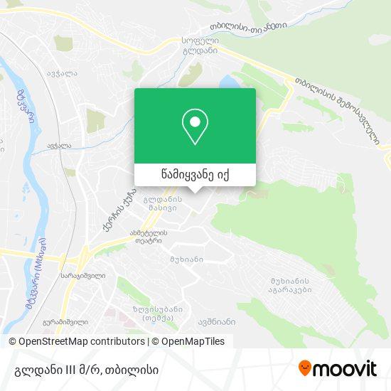 გლდანი 3 მკრ. (Gldani 3) რუკა