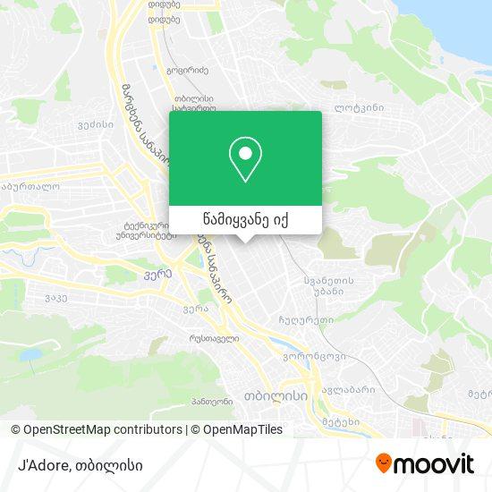 J'Adore რუკა